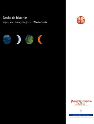 Portada del libro Noche de Historias: agua, aire, tierra y fuego en el Navia-Porca